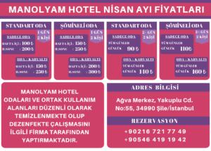 Ağva Manolyam Hotel Fiyatları